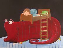 the sock monster under the bed by Sanne Thijs