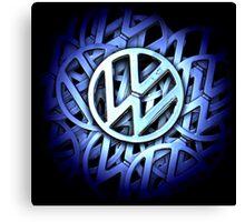 Shiny Volkswagen Badge © Canvas Print