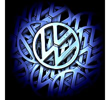 Shiny Volkswagen Badge © Photographic Print