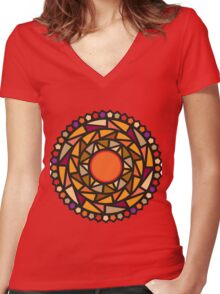 Happy Mood Women's Fitted V-Neck T-Shirt