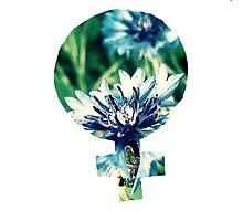 Blue Flowers Venus Symbol by theboredkid