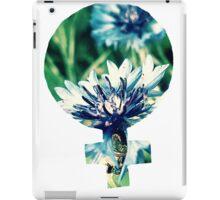 Blue Flowers Venus Symbol iPad Case/Skin