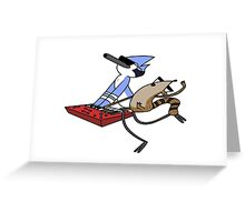 Mordecai & Rigby Music Legends Greeting Card