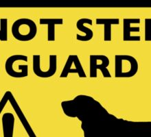 Humorous Basset Hound Guard Dog Warning Sticker