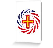 Guernsey American Multinational Patriot Flag Series Greeting Card