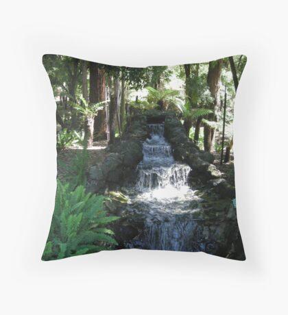 Waterfall in Creature Garden.. Bendigo Throw Pillow