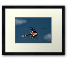 Model helicopter Framed Print