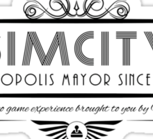 SimCity - Art Deco Black Sticker