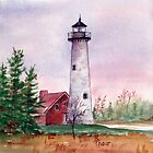 Tawas Point Light by Brenda Thour