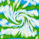 Groovy Green Blue Swirl by Donna Grayson