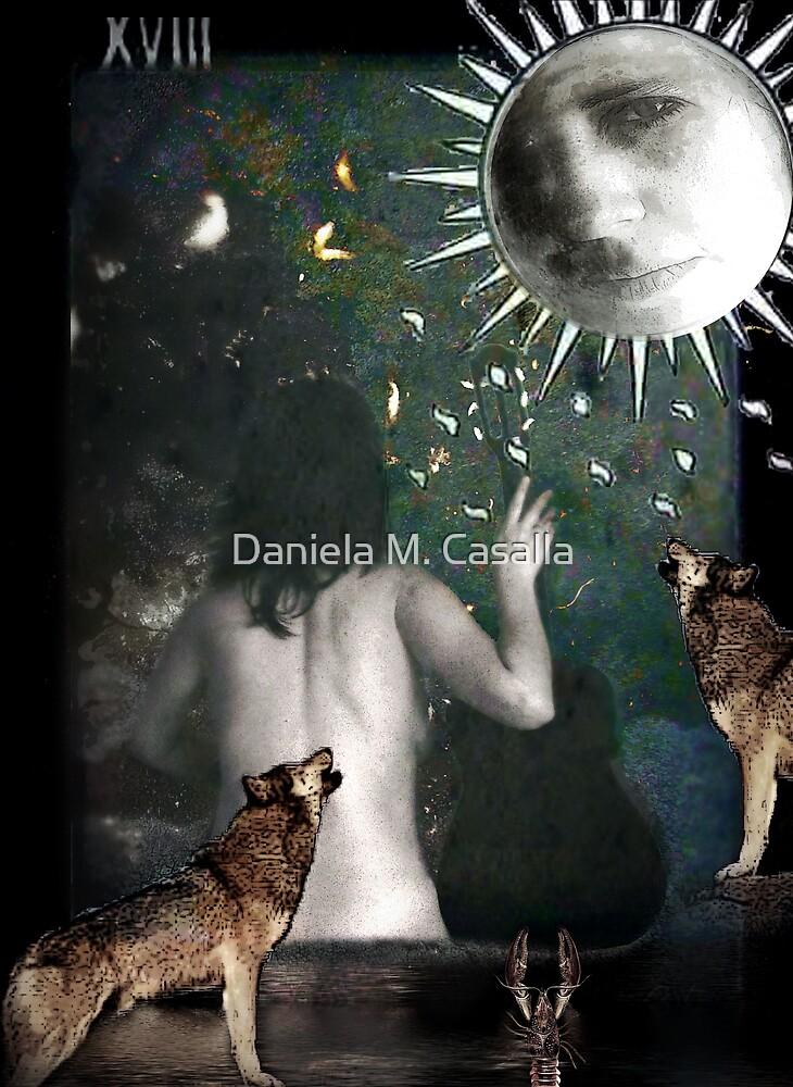 The Moon - La Luna by DMCart Daniela M. Casalla