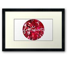 Red Tree Feminist Framed Print