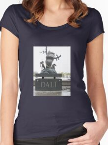 A TRIBUTE TO SALVADOR DALI Women's Fitted Scoop T-Shirt