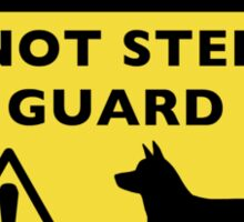 Pembroke Welsh Corgi Humorous Guard Dog Warning Sticker