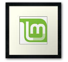 Linux Mint Flat Framed Print