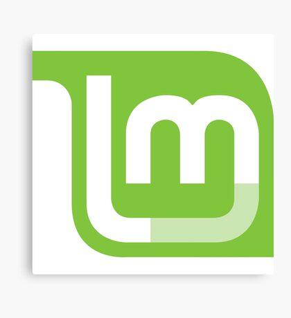 Linux Mint Flat Canvas Print