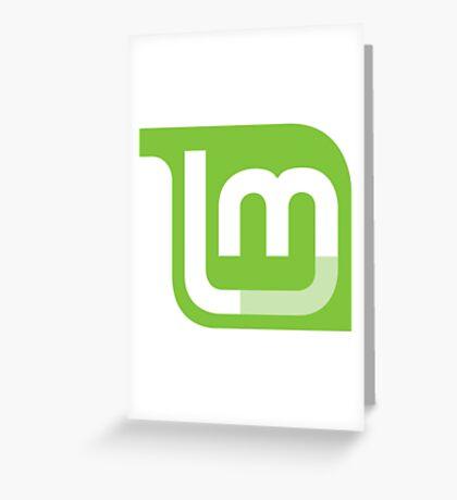 Linux Mint Flat Greeting Card
