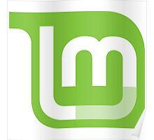 Linux Mint Flat Poster