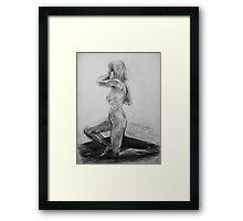 On one knee Framed Print