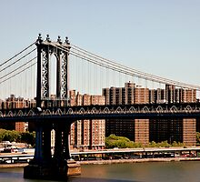 Manhattan Bridge Sunrise by joan warburton