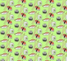 Sushi Pattern by anemophile