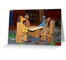 Giraffe Picnic Greeting Card