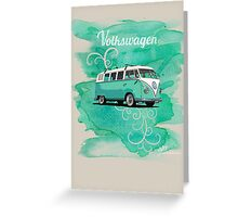 Volkswagen Kombi Mint Swirl Greeting Card