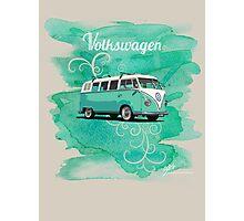Volkswagen Kombi Mint Swirl Photographic Print
