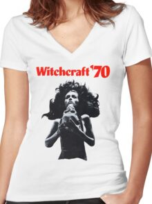 Witchcraft '70 movie shirt! Women's Fitted V-Neck T-Shirt