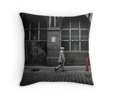 silver suit Throw Pillow