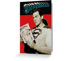 Kirk Alyn Reading Superman 1948 Greeting Card
