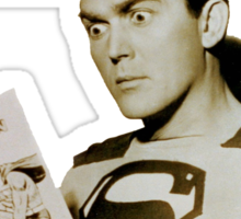 Kirk Alyn Reading Superman 1948 Sticker