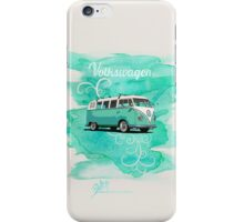 Volkswagen Kombi Mint Swirl iPhone Case/Skin