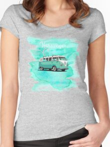 Volkswagen Kombi Mint Swirl © Women's Fitted Scoop T-Shirt