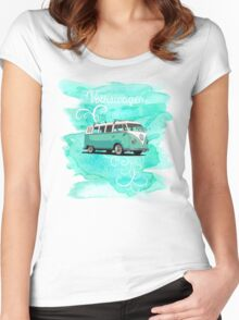 Volkswagen Kombi Mint Swirl © Women's Fitted Scoop T-Shirt