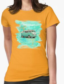 Volkswagen Kombi Mint Swirl © Womens Fitted T-Shirt