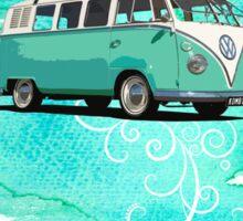Volkswagen Kombi Mint Swirl © Sticker