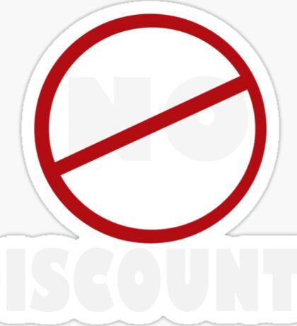 NO DISCOUNT Sticker