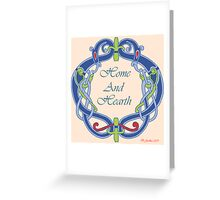 Home And Hearth Greeting Card
