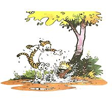 Calvin and hobbes Happy Forever by JackCustomArt