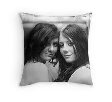 Elevator Girls Throw Pillow