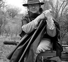 Civil War Reenactor, Ranchos de las Golondrinas by Mitchell Tillison