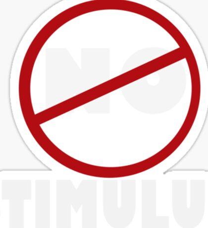 NO STIMULUS Sticker