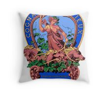 Goddess of Spirits Vintage Label Art Throw Pillow