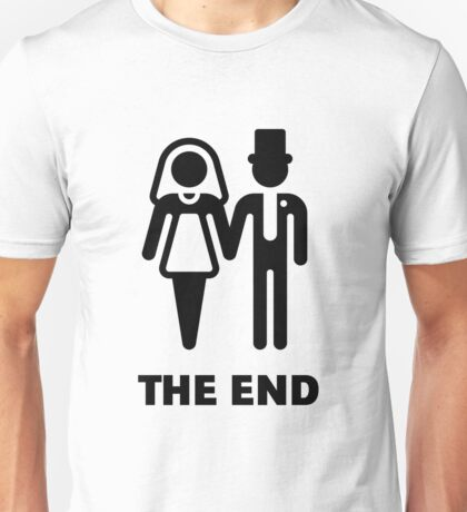 The End (Wedding / Marriage / Bridal Pair / Black) Unisex T-Shirt