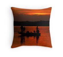Fishermans Sunset Throw Pillow