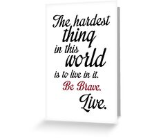 Buffy Typography Greeting Card