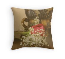 Soft Rose Throw Pillow