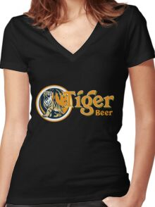 Tiger Beer Women's Fitted V-Neck T-Shirt