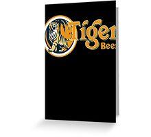 Tiger Beer Greeting Card